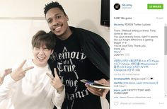 BTS - JIMIN & TONY, they met up after kcon 2016 too!