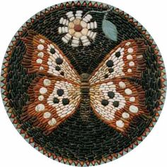 Butterfly Roundel Mosaic by Maggy Howarth - Cobblestone Designs