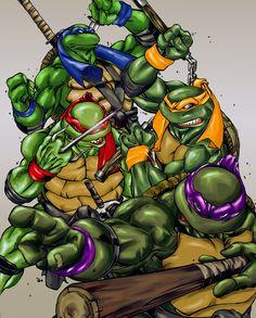 Ninja Turtles Wallpaper Wallpapers) – Free Backgrounds and Wallpapers Ninga Turtles, Ninja Turtles Art, Teenage Mutant Ninja Turtles, Thundercats, Miguel Angel, Ninja Turtle Coloring Pages, Pokemon, Pics Art, Cartoon Characters