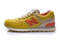 New Balance 574 Men's Yellow White Orange ML574