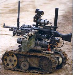Flat silicone cables are installed on unmanned ground-based military robotic vehicles — as they're lighter, and carry higher current. (From from Cicoil, Valencia, Calif. Military Robot, Battle Bots, Boston Dynamics, Robot Design, The Expendables, Stunning Photography, Modern Warfare, Special Forces, Military Vehicles