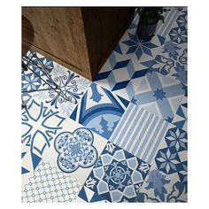 Beautiful Blues Perfect for any floor or wall application. by eurotilestone