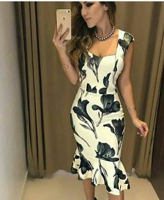 Lace Dress Styles, Lovely Dresses, Knit Dress, Dress Up, Bodycon Dress, Elegant Outfit, Flare Dress, Casual Looks, Ideias Fashion