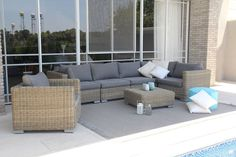 Outdoor Sectional, Sectional Sofa, Outdoor Furniture Sets, Outdoor Decor, Furniture Design, Table, Home Decor, Google, Garden