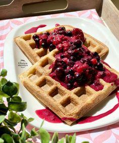 Healthy Recipes, Healthy Food, Waffles, Vegan, Breakfast, Free, Healthy Foods, Morning Coffee, Healthy Eating Recipes