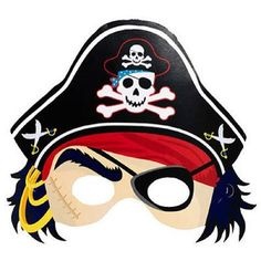 Pirate's Treasure Map Caribbean Kids Birthday Party Favor Paper Pirate Masks | eBay