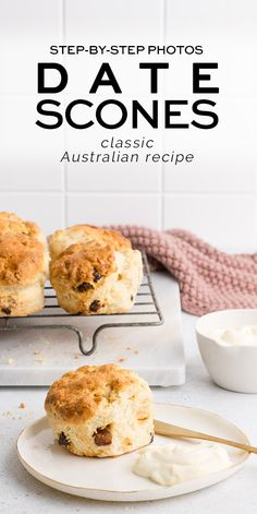 Date Scones with step-by-step photos | Eat, Little Bird #scones Muffin Recipes, Brunch Recipes, Sweet Recipes, Baking Recipes, Breakfast Recipes, Dessert Recipes, Breakfast Ideas, Bread Recipes, Brunch Dishes