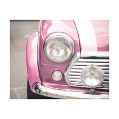 8 x 10 Print - Pink Mini Cooper 1 / Fine Art Photography / Melbourne... ($30) ❤ liked on Polyvore