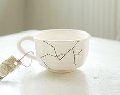 sagittarius vintage tea cup  hand drawn zodiac by wandersketch, $16.00