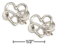 Sterling Silver Infinity Heart Knot Earrings by Sensual Shoes & Clothing Btq on Opensky - just in time for the Wire Earrings, Heart Earrings, Wire Jewelry, Sterling Silver Jewelry, Infinity Heart, Infinity Love, Heart Knot, Heart Ring, Matching Rings