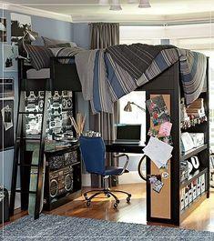 teenage-boys-bedroom-ideas-014 #smallbedroomideas #Teenagebedrooms