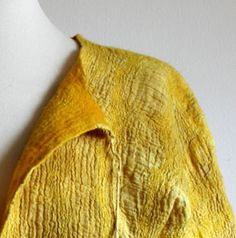 Dyed with Turmeric and tea bags by  Monika Lamacka (red2white)