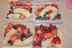What to do with your over ripe fruit - Do it yourself smoothie kits!