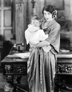 Barbara La Marr holds her son, Marvin, later renamed Don Gallery & adopted by actress Zasu Pitts.
