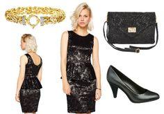 Schwarzes Schößchen Kleid mit Spitze + Outfit Tipps http://www.kleider-deal.de/schwarzes-schoesschen-kleid-mit-spitze-outfit-tipps/ #Schößchen #Kleider #Outfit #Fashion #Spitze #Cocktailkleider
