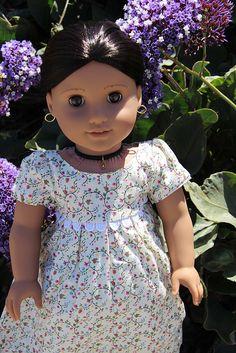 Catlin's Josefina among the flowers | American Girl Playthings!