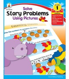Solve Story Problems Using Pictures Resource Book - Carson Dellosa Publishing Education Supplies  #CDWishList