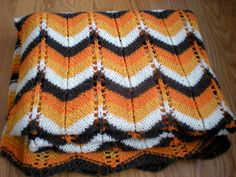 Perfect Soft Knitted Chevron Afghan Zig Zag Blanket by chloeswirl, $27.50