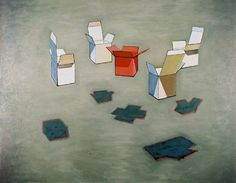 DAN FOGEL, Contemporary realism, still-life, still life, box, boxes, oil painting