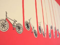 Artcrank Bicycle Poster Art. #pink #bikes