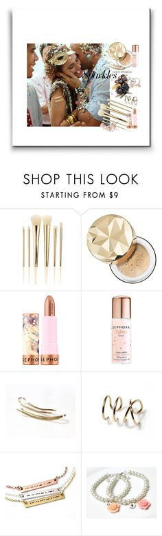 """""""#PolyPresents: Sparkly Beauty"""" by treasury ❤ liked on Polyvore featuring beauty and Sephora Collection"""