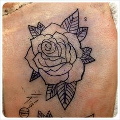 Tattoo rose outline