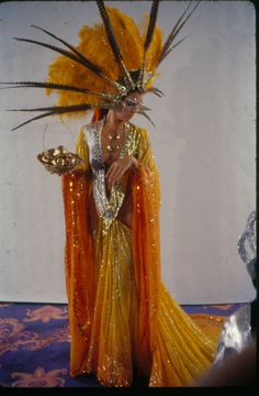 The dress ... the hairpiece ... the golden apples ....