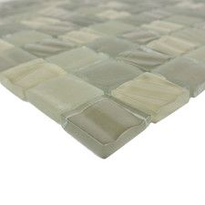 """New Era 1.25"""" x 1.25"""" Glass and Slate Mosaic Tile in Camouflage"""