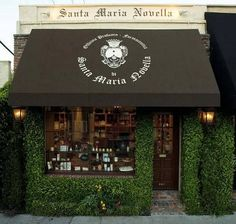 Santa Maria Novella, Luxurious Italian Beauty And Healthcare Brand Available In LA Cafe Restaurant, Restaurant Design, Cafe Design, Store Design, Santa Maria Novella, Lovely Shop, Cafe Shop, Small Cafe, Shop Fronts