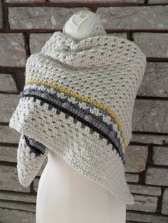 I like the few rows with different crochet stitch