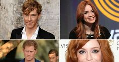 Are you celebrating Kiss a Ginger Day today? These redheads would be top of our list