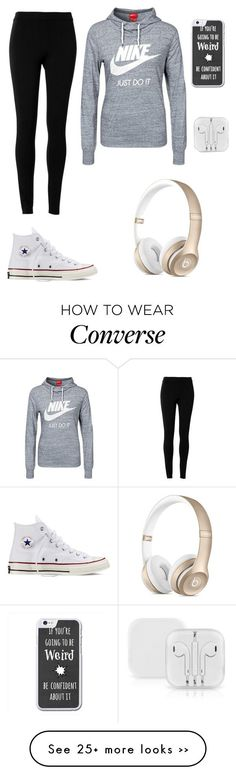 """Boring day"" by rachelishappy on Polyvore featuring moda, NIKE, Max Studio e Converse"