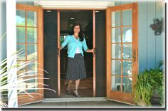 A to Z Window Screens Retractable screen for outswing French doors. - July 06 2019 at French Doors With Screens, French Doors Patio, Patio Doors, Windows And Doors, Front Doors, Entry Doors, French Patio, Interior Barn Doors, Exterior Doors