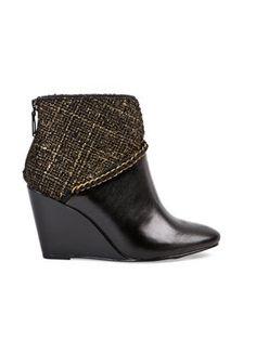 boots compensées bi-matières de andré