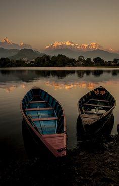 Phewa Lake, Nepal  #Beautiful #Places #Photography