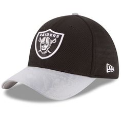 dd0cde5e08a Oakland Raiders New Era 39Thirty NFL Sideline M L Flexfit Fitted Cap Hat   NewEra