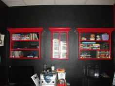 These are shelves customized for our daughters needs