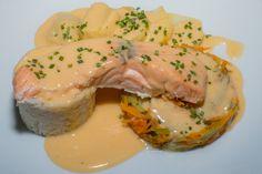 Recette de saumon et sa julienne de légumes au Micro Vap'
