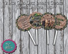 2 Inch Green Or Pink Camo Duck Dynasty by NeatAndSweetDesigns, $4.00