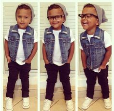 Those glasses... I die. So precious. Little boy fashion. kids fashion and style. geek chic. boys clothing / outfits. for the little man.