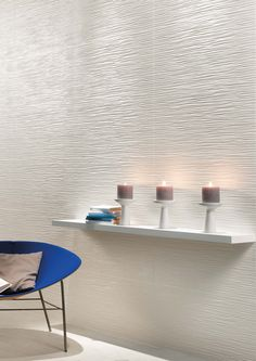 3D/Wave Ceramic Wall Tiles | Matt finish | @atlasconcorde | Made in Italy | atlasconcorde.com