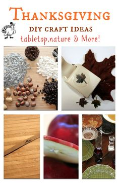 5 different #Thanksgiving #craft ideas.  With #Nature and household decor you have around and more.