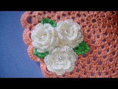 Rosa e Foglia Uncinetto Tutorial - Rose Leaf Crochet - Rosa Folha Croche - YouTube