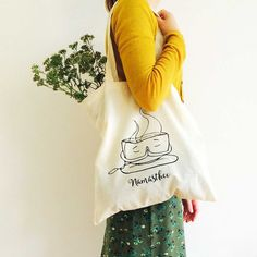 Namasthee totebag, shopper, cotton bag - perfect for small stuff, books, groceries and to bring with while going to your next yoga class.