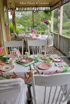 Aiken House & Gardens | Vintage Tea Party on the Porch