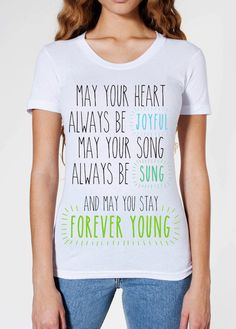 Forever Young- Bob Dylan T Shirt design