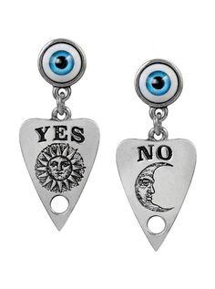 Alchemy England Ouija Planchette Gothic Pewter Eyeball Earrings Pair NEW Gothic Accessories, Gothic Jewelry, Boho Jewelry, Unique Jewelry, Jewlery, Gothic Earrings, Unique Earrings, Silver Jewellery, Jewelry Box