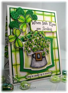 IC222 Irish Eyes by justwritedesigns - Cards and Paper Crafts at Splitcoaststampers