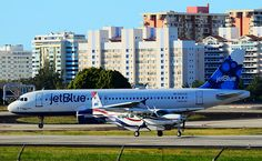 "N562JB #JetBlue Airways Airbus A320-232  (cn 1948)  ""The name is Blue, JetBlue"" - MN Aviation Cessna 208B Grand Caravan N409MN (cn 208B0846)"