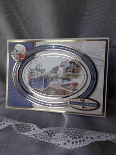 Fishing boat mens birthday card - Fishing boat mens birthday card by CardsbyJackieDesigns on Etsy - Birthday Card Messages, Masculine Birthday Cards, Birthday Cards For Men, Man Birthday, Masculine Cards, Ocean Fishing Boats, Boat Drawing, Hunkydory Crafts, Beach Cards